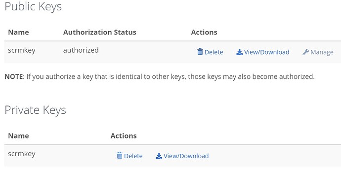 pubpriv key authorized