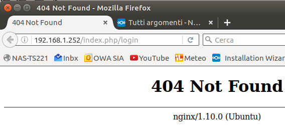 404 on nginx after installation - installation - Nextcloud