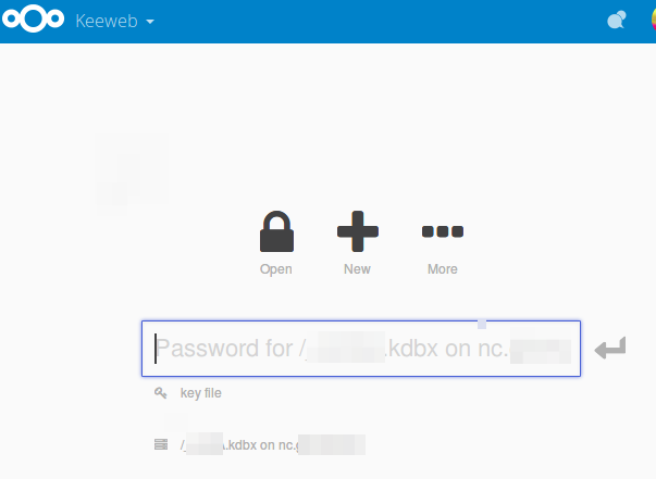 Keeweb app is downloading kdbx file instead of opening in