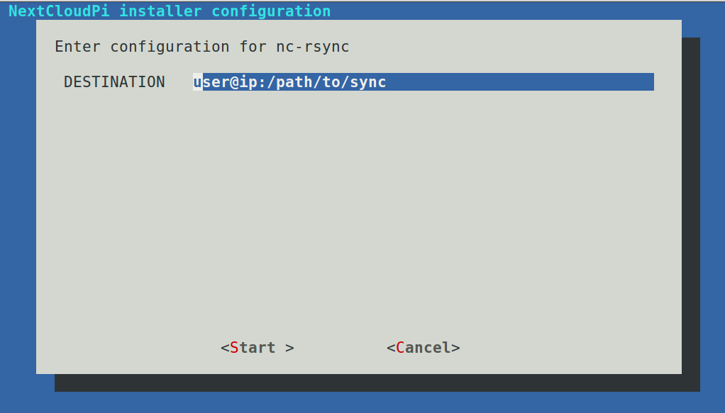 Rsync SSH to another server - appliances (Docker, Snappy, VM