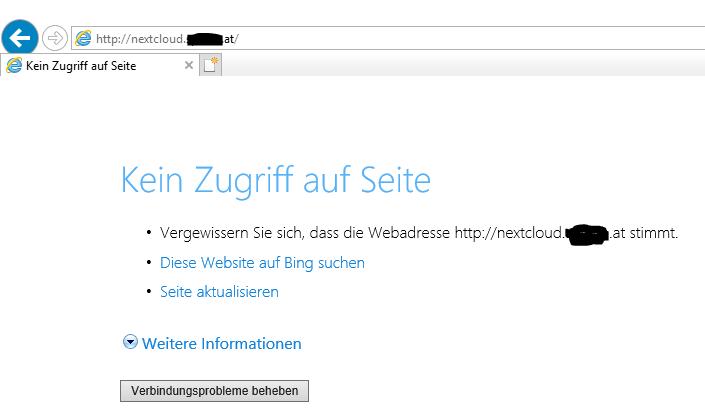 HTTPS doesn\'t work - installation - Nextcloud community