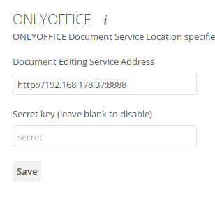 Docker: ONLYOFFICE not reached  Please contact admin