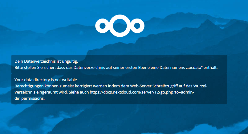 Problem after changing data directory - support - Nextcloud