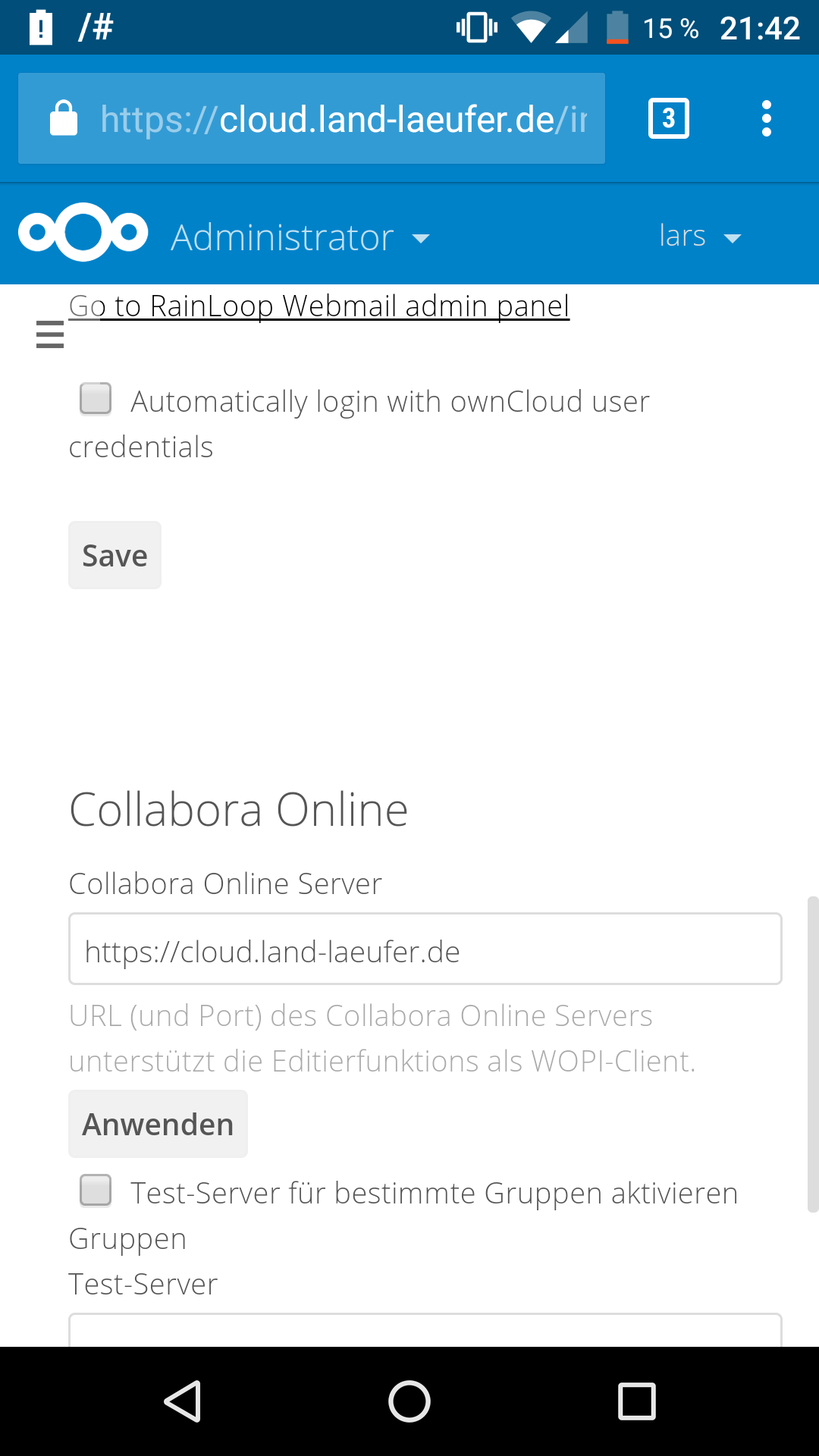 Can't connect to Collabora Online :/ - collabora - Nextcloud