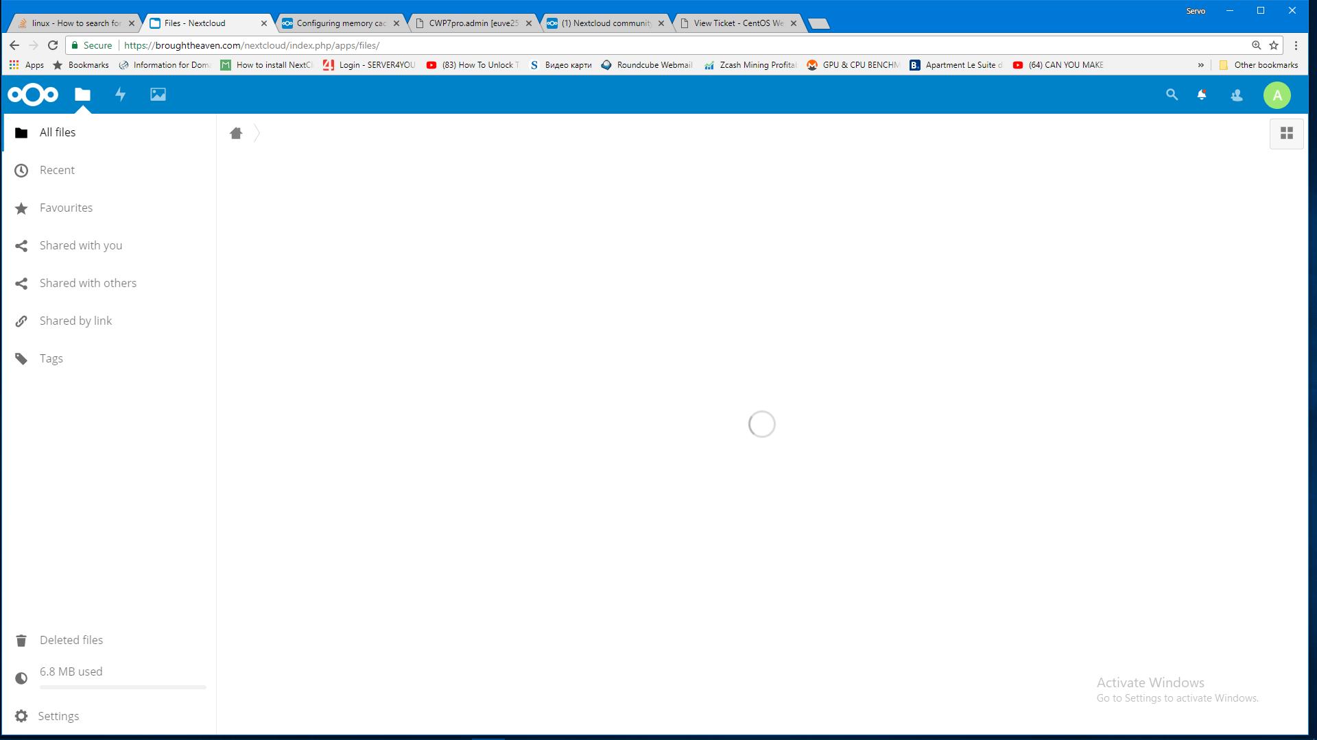 CentOS 7 and CWPpro  WebDAV broken No memory cache has been