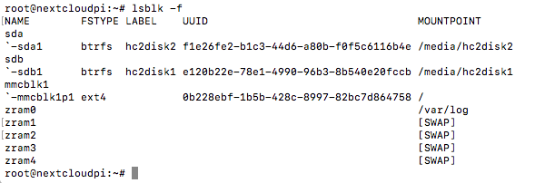 Format an external USB Drive - appliances (Docker, Snappy