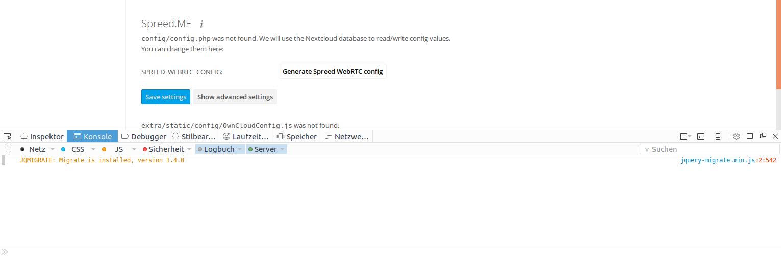 Failed to start Spreed WebRTC server - talk (spreedme) - Nextcloud