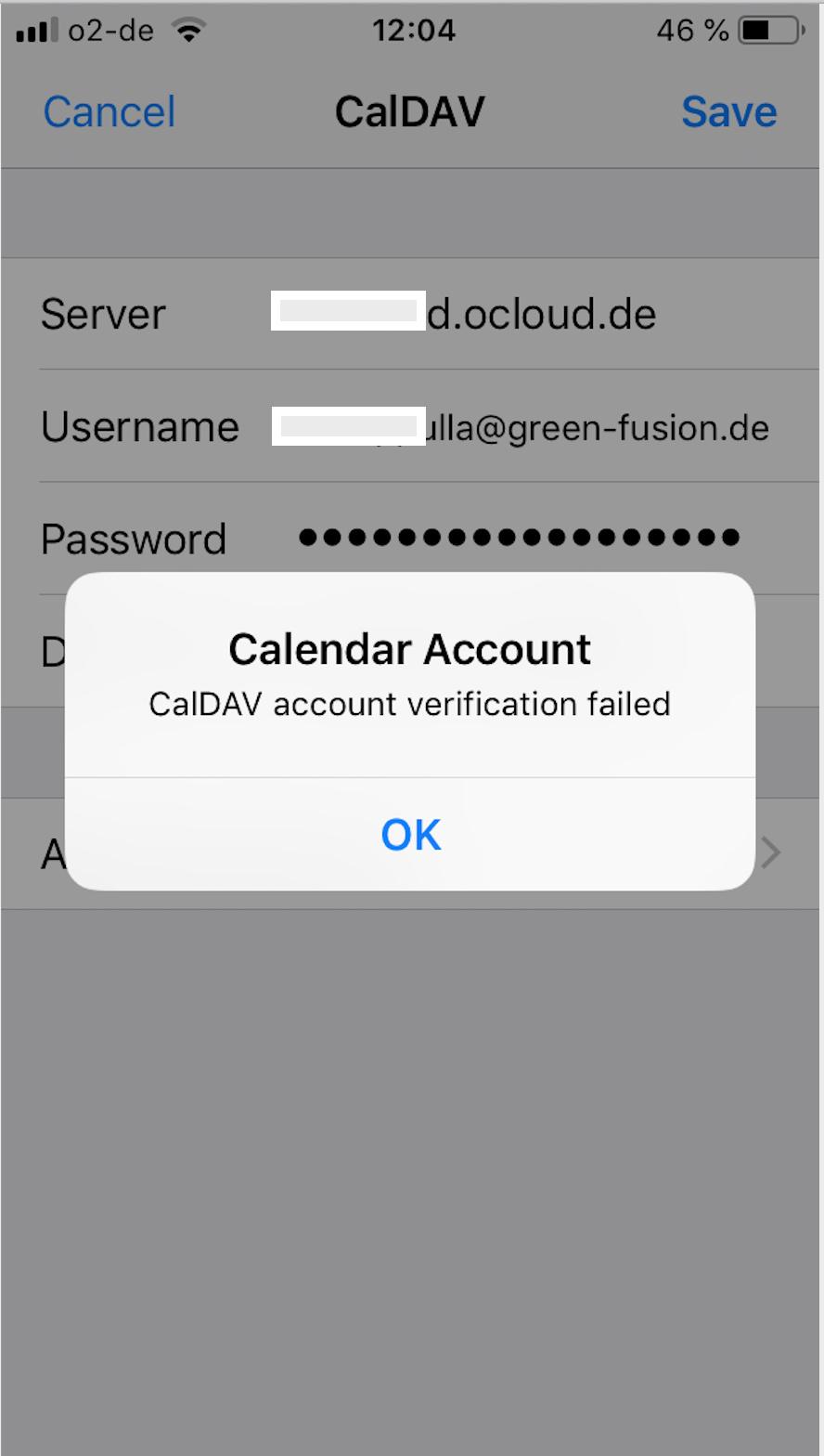 CalDAV connection on iOS devices - ios - Nextcloud community