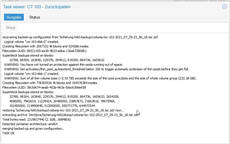 Nextcloud Status Restore