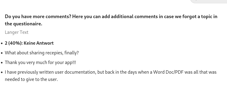 Q6 - Additional comments